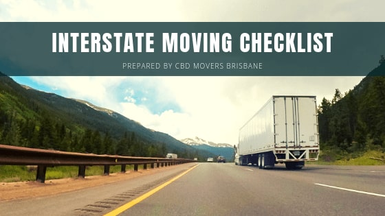 Interstate Moving Checklist